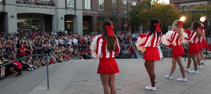 Nebraska Alumni Association - Scarlet Guard Homecoming Pep